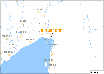 map of Binuangan