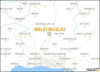 map of Bioley-Orjulaz