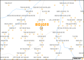 map of Biougra