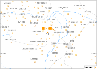 Biranj Albania map nonanet