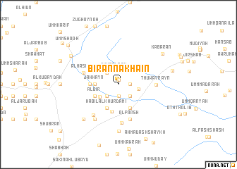 map of Bi'r an Nakha'īn