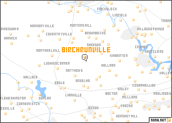 map of Birchrunville
