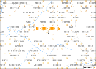 map of Biribiwomang
