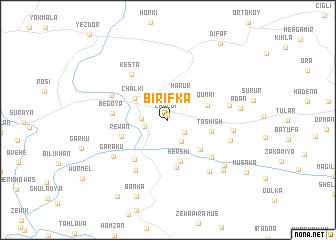 map of Birifka