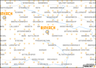 map of Birkach