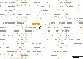 map of Birkenzant