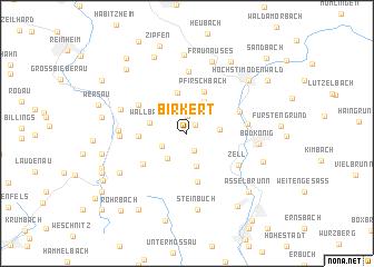 map of Birkert