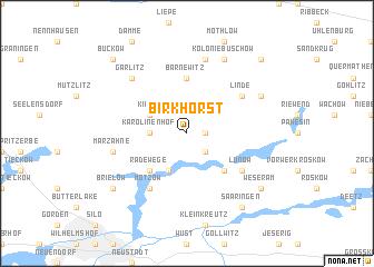 map of Birkhorst