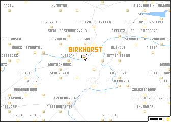map of Birkhorst