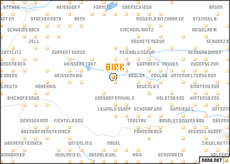 map of Birk