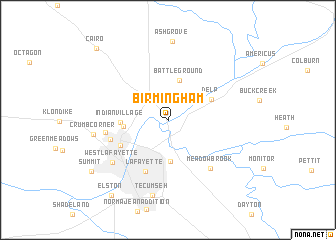 Birmingham United States  USA Map  Nona