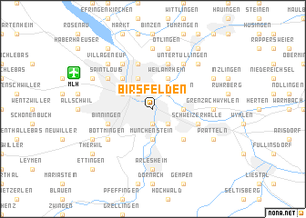map of Birsfelden