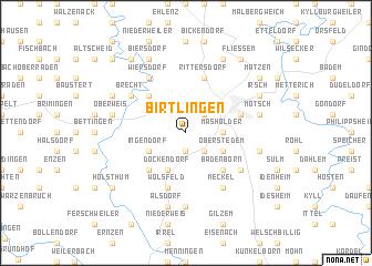 map of Birtlingen