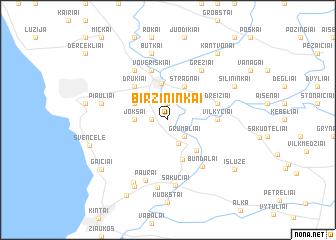 map of Biržininkai