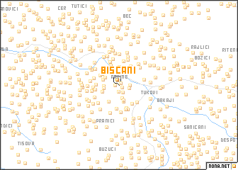 map of Bišćani