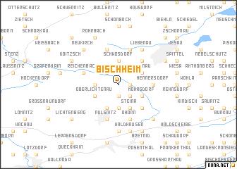 map of Bischheim