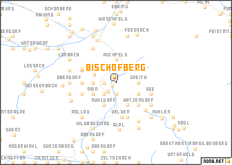 map of Bischofberg