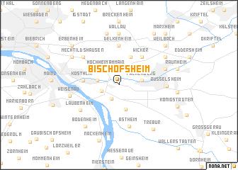 map of Bischofsheim
