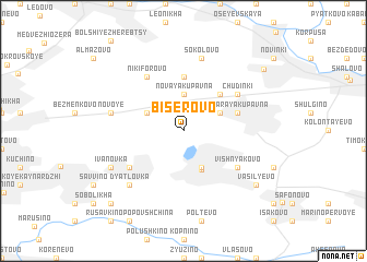 map of Biserovo