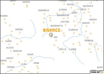 map of Bishnicë