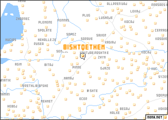 map of Bishtqethëm