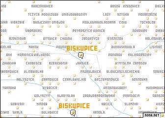 map of Biskupice