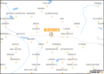 map of Bismark