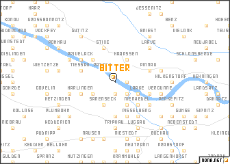 map of Bitter