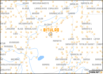 map of Bitulao