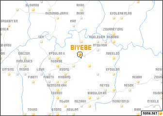 map of Biyébé