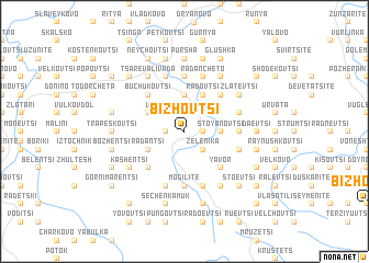 map of Bizhovtsi