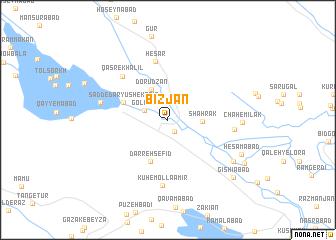 map of Bīzjān