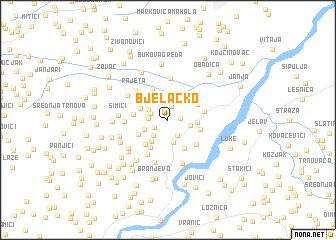 map of Bjelačko