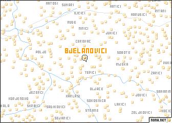 map of Bjelanovići