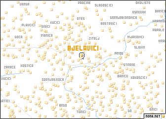 map of Bjelavići