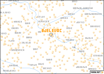 map of Bjelevac