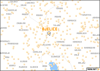 map of Bjelice