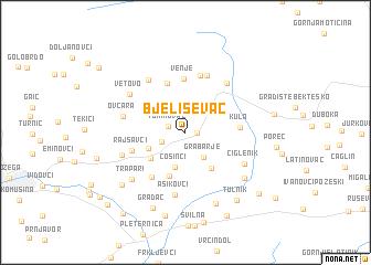 map of Bjeliševac