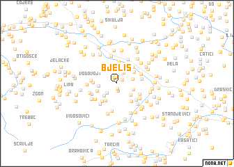 map of Bjeliš