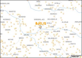 map of Bjeliš