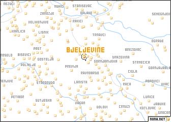 map of Bjeljevine