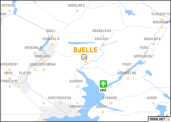 map of Bjelle
