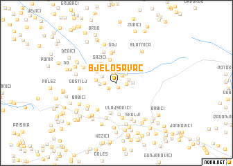 map of Bjelosavac