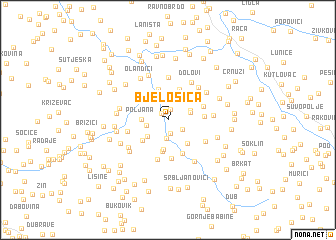 map of Bjelošica