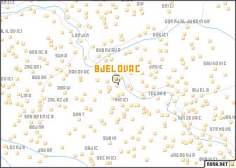 map of Bjelovac