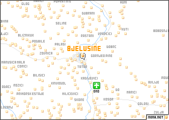 map of Bjelušine