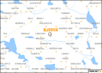map of Björka
