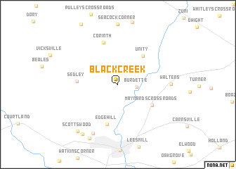 map of Black Creek