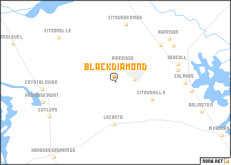 map of Black Diamond