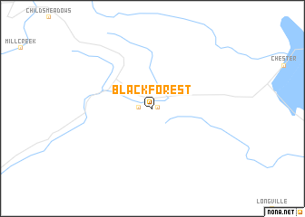 map of Black Forest